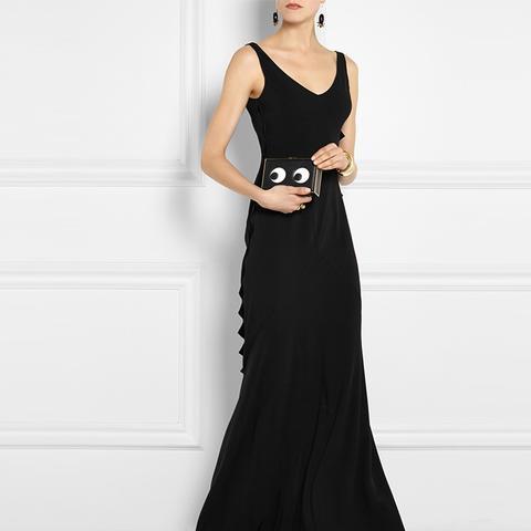 Stretch-Crepe Maxi Dress