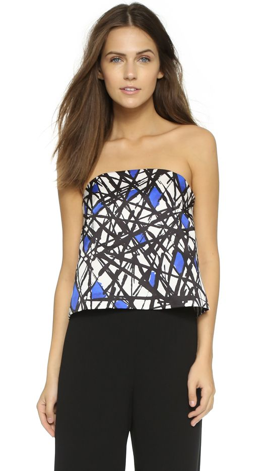 Milly Abstract Print Eloise Top