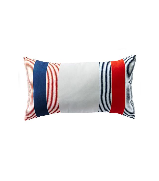 West Elm Outdoor Hand-Drawn Colorblock Stripe Pillow