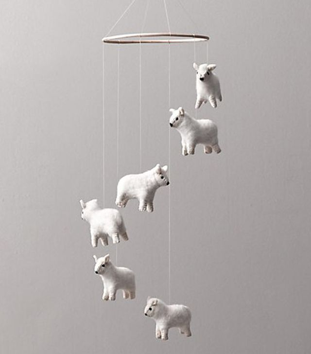 Restoration Hardware Baby and Child Wool Felt Sheep Mobile