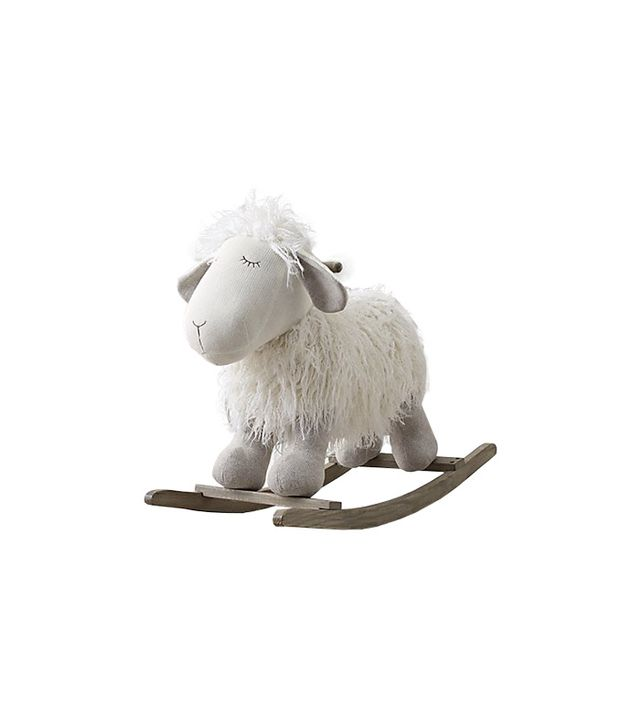 Restoration Hardware Baby and Child Wooly Plush Rocking Sheep