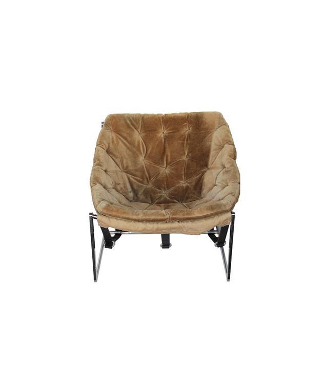 Rummage 1970s Chrome Bucket Chair