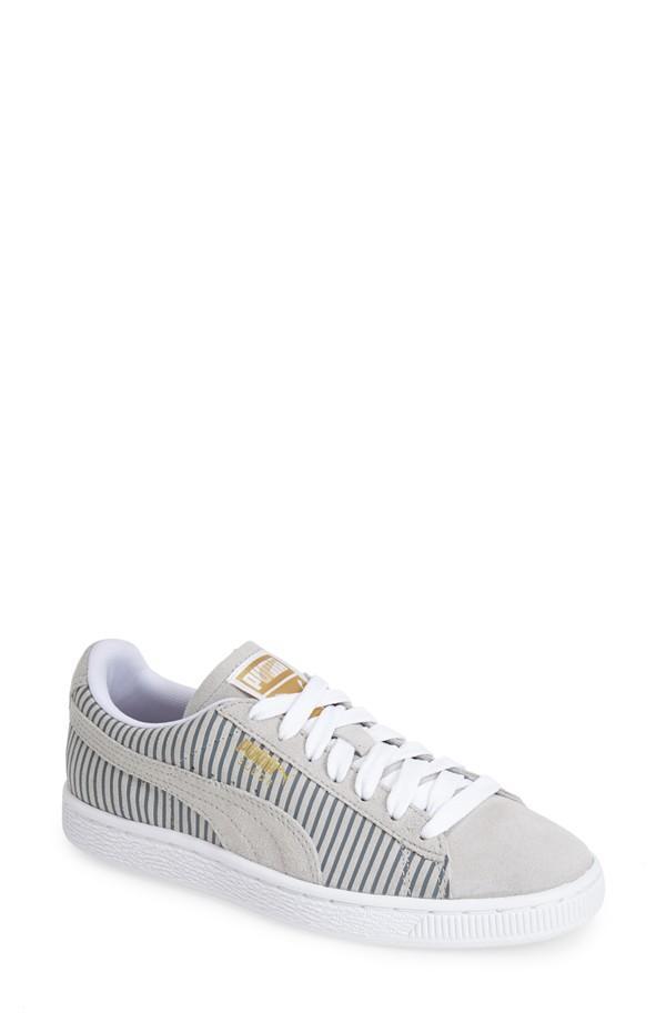 Puma Suede Classic Sneaker in Grey Violet