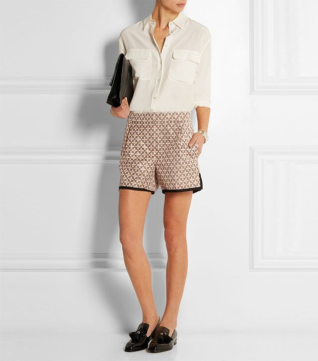 J.Crew Collection Metallic Jacquard Shorts