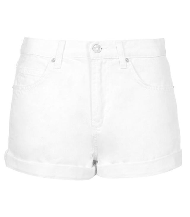 Topshop Moto White Rosa Shorts