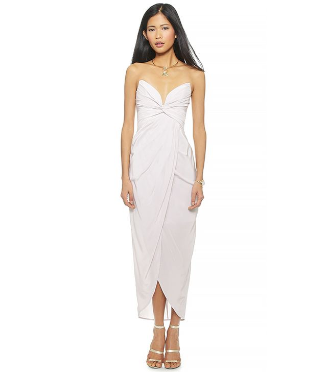 Zimmermann Silk Petal Twist Long Dress