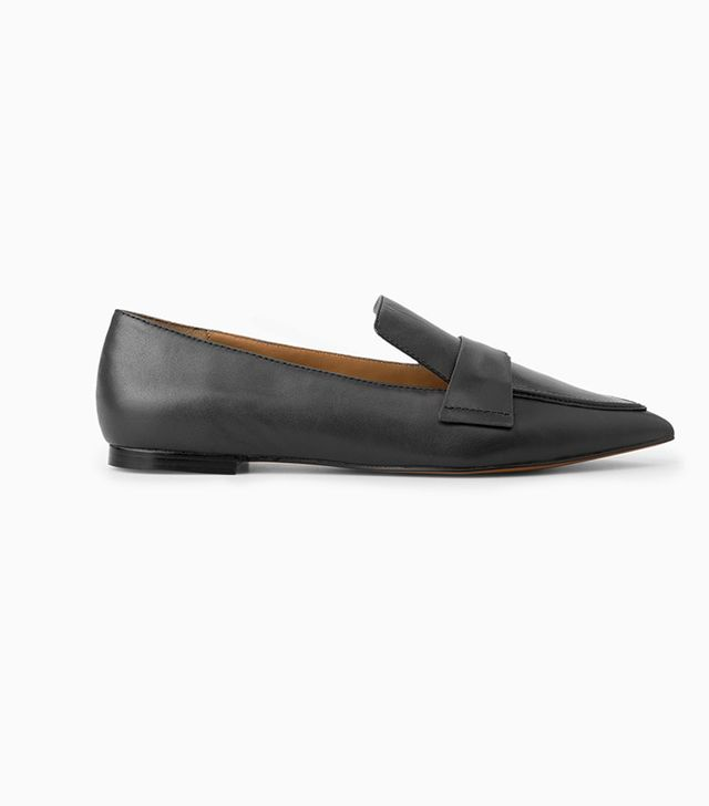 Mango Leather Pointed Shoes
