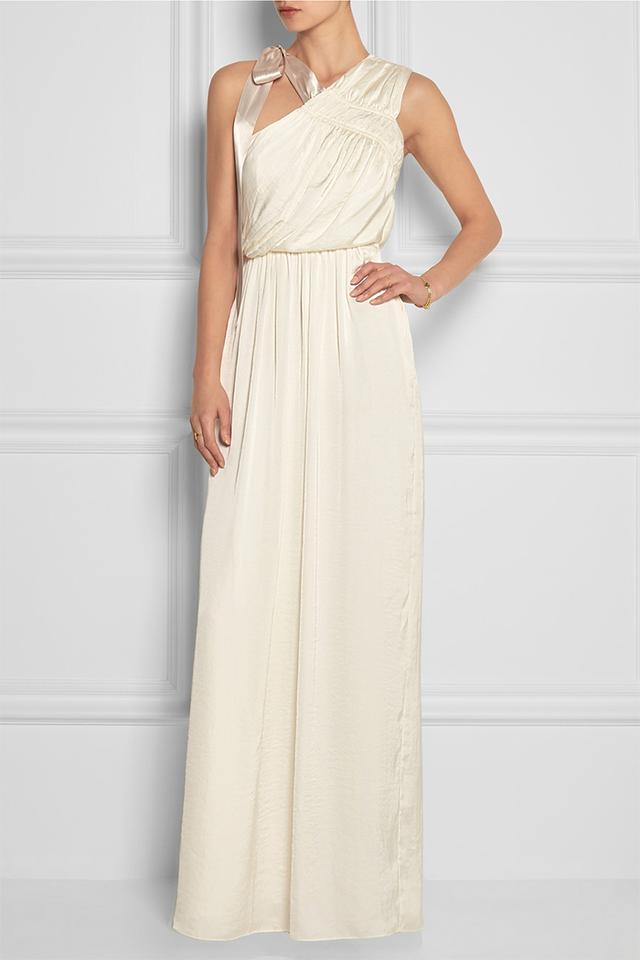 Needle & Thread One-Shoulder Satin Maxi Dress