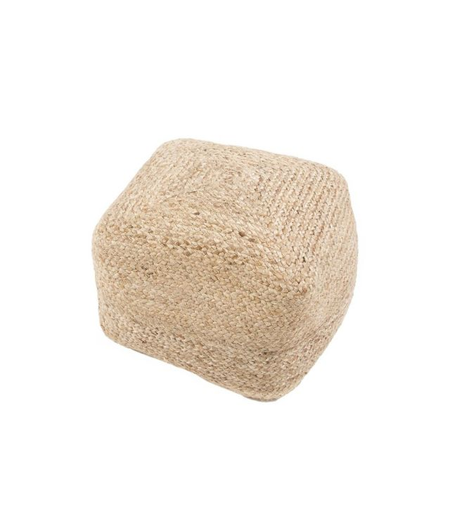 Homeware Tamil Natural Braided Pouf