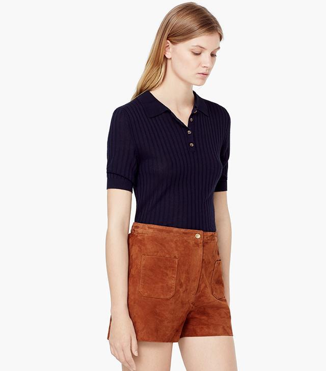 Mango Suede Shorts