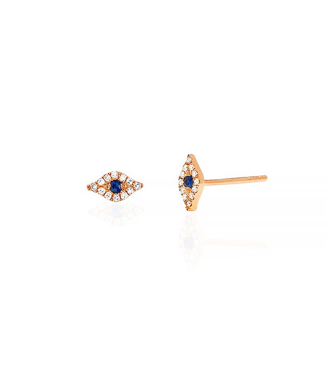 EF Collection Mini Evil Eye Stud Single Earring