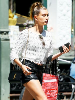 Hailey Baldwin's Fringe Top Is Only $52
