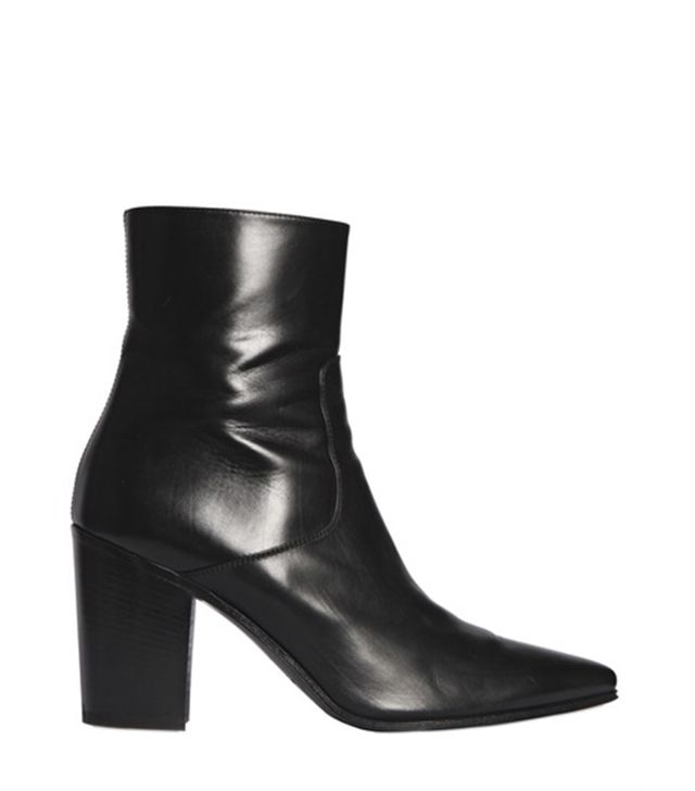 Saint Laurent French Leather Ankle Boots