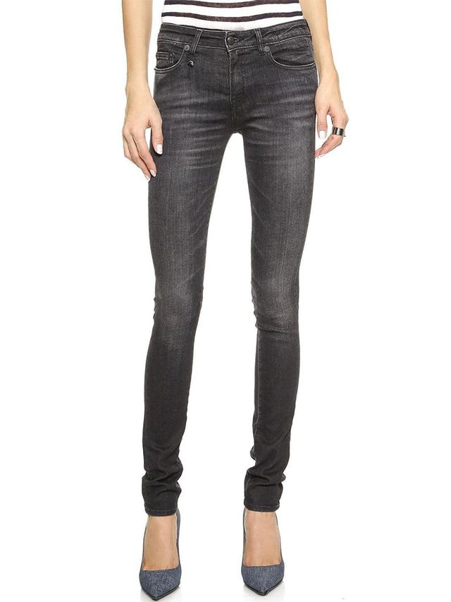 R13 Alison Mid Rise Ankle Skinny Jeans