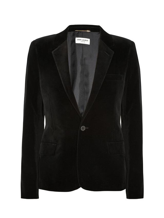 Saint Laurent Cotton-Blend Velvet Blazer