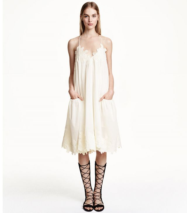 H&M Wide-Cut Cotton Dress