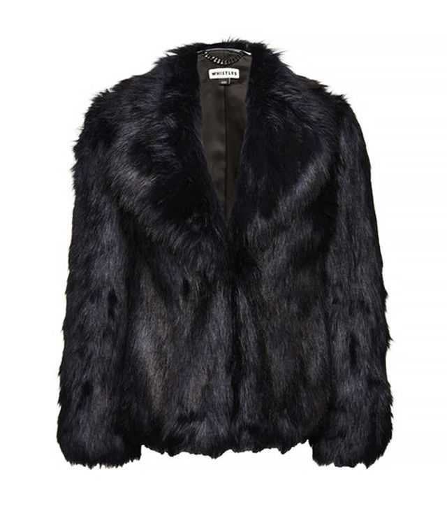 Whistles Kumiko Short Faux Fur Coat