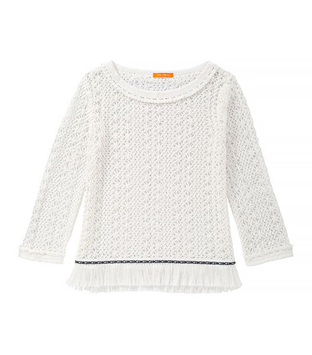 Joe Fresh Crochet Fringe Sweater
