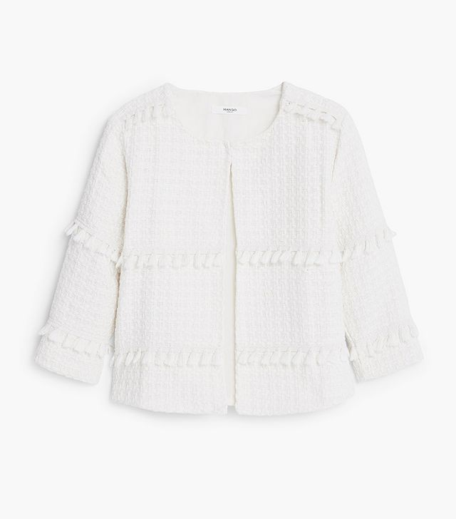 Mango Cotton Embroidered Jacket