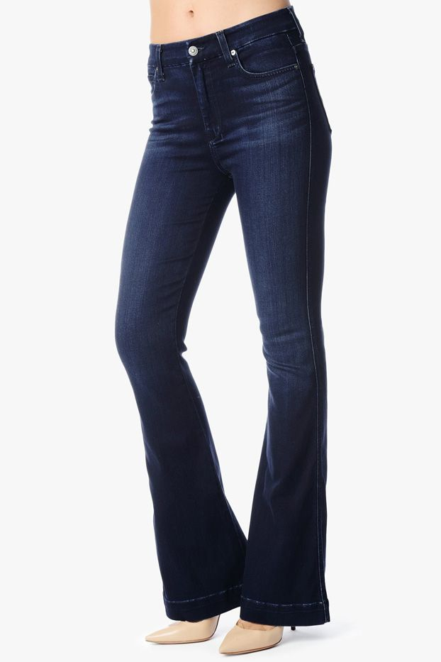 7 for All Mankind High Waist Wide Leg Trousers