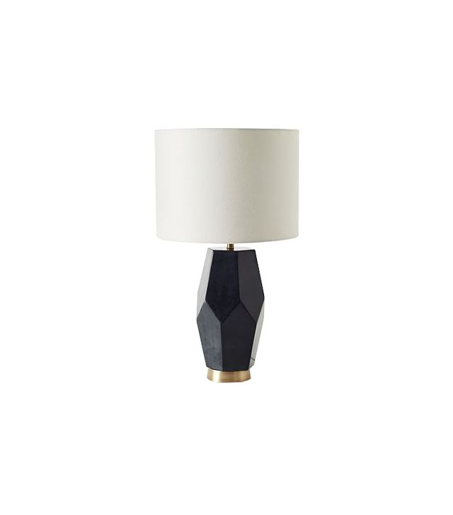 West Elm Faceted Stone Table Lamp