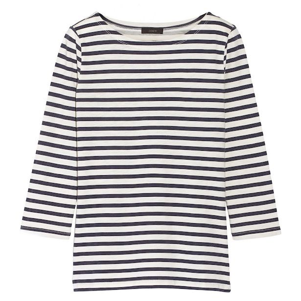 J.Crew Breton Striped Cotton Top