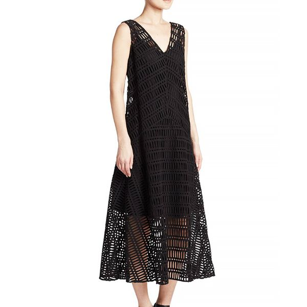 DKNY Sleeveless Crochet Dress