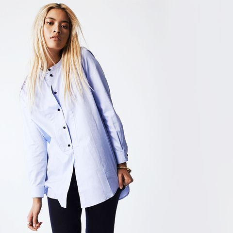 Lux Button Down Tuxedo Shirt