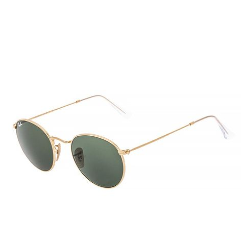 Round Sunglasses, Green/Gold