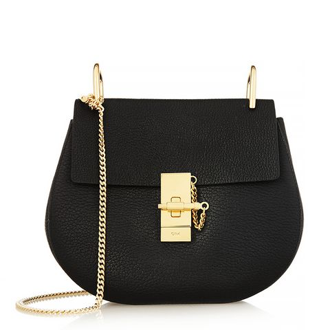 Drew Medium Textured-Leather Shoulder Bag