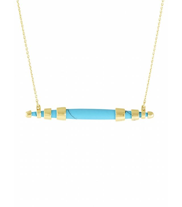 House of Harlow 1960 Rift Valley Horizontal Pendant Necklace