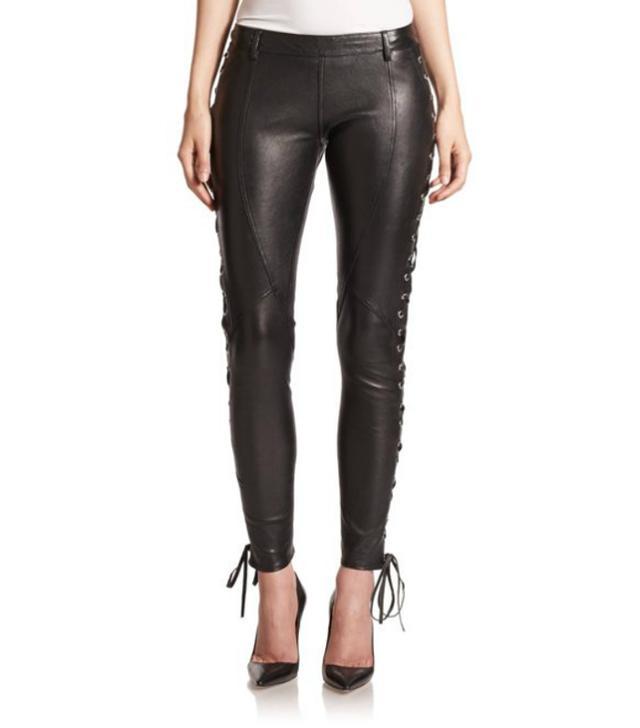 Faith Connexion Leather Lace-up Leggings