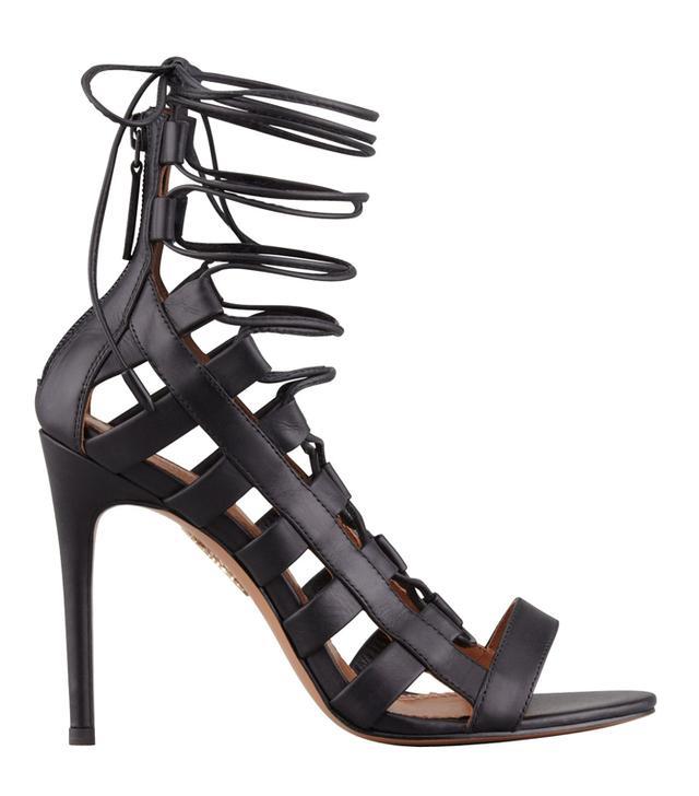 Aquazurra Amazon Lace-Up Ankle-Wrap Sandals