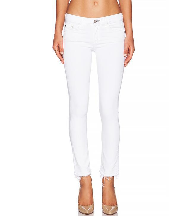 Rag & Bone/Jean White Cropped Jeans