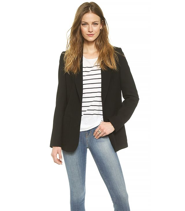 Anine Bing Classic Fit Blazer, Black