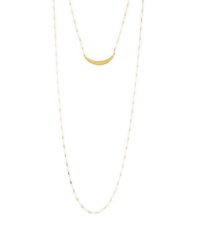 Jennifer Zeuner Pippa Gold Vermeil Moon Layered Necklace