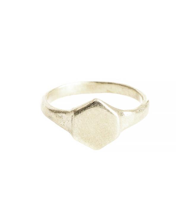 Odette Silver Signet Ring