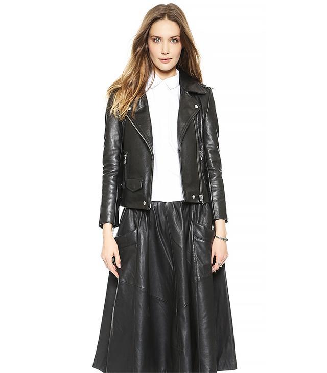 Oak Rider Leather Jacket, Black