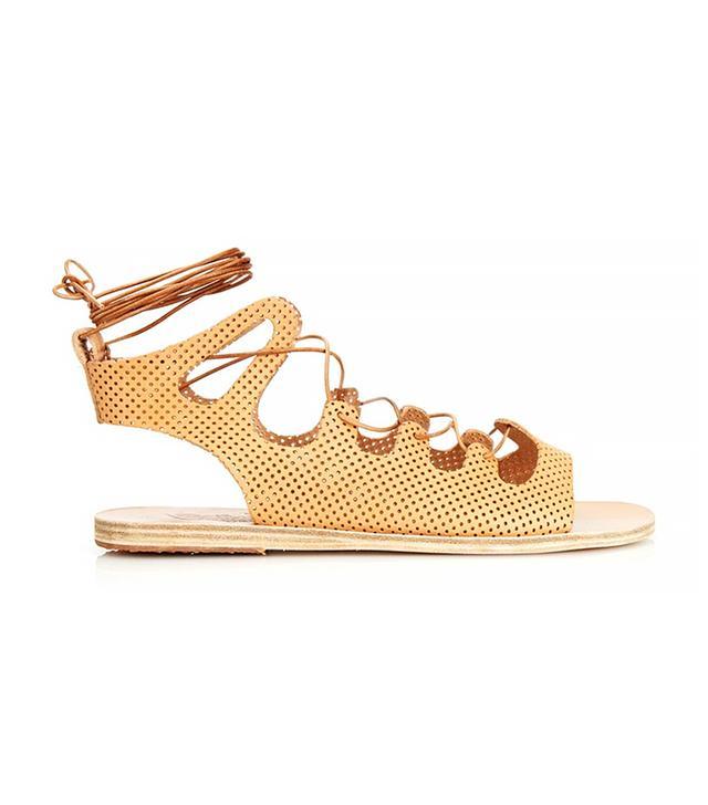 Ancient Greek Sandals Antigone Lace-Up Leather Sandals