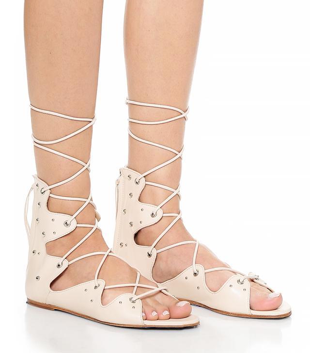 Iro Xira Lace Up Flat Sandals