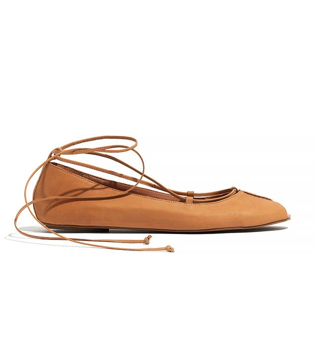 Madewell The Nora Lace-Up Flat