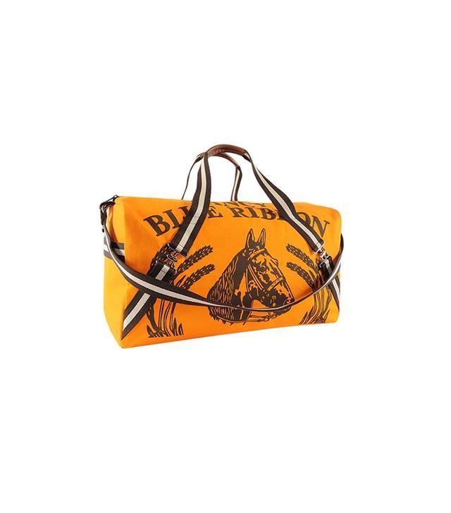 Rebecca Ray Designs Orange Maryann Canvas Horse Duffel