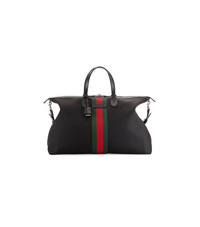 Gucci Black Techno Canvas Duffle Bag