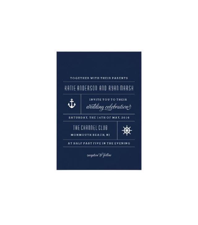 Modern Nautical Wedding Invitation