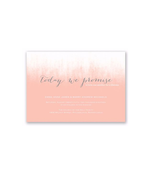 David's Bridal Ombre Love Foil Invitation