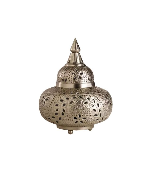 World Market Small Moroccan Punched Metal Lamp