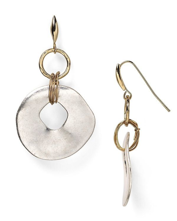 Robert Lee Morris Soho Disc Drop Earrings