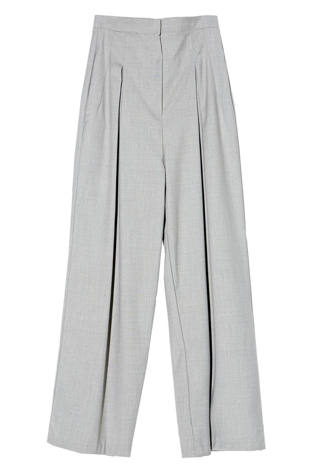A Common Space Grey Wide-Leg Trousers