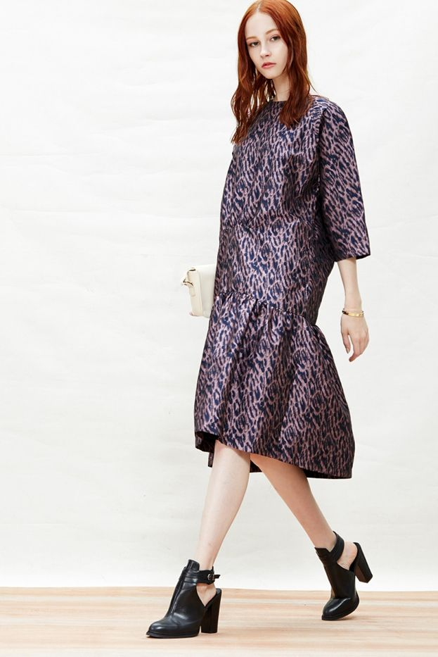 A Common Space Metallic Leopard Print Dress