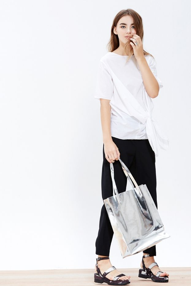 A Common Space Silver Tote